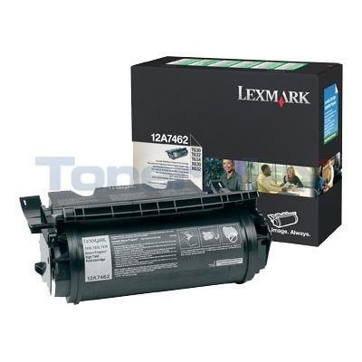 LEXMARK T630 TONER CARTRIDGE BLACK RP 21K